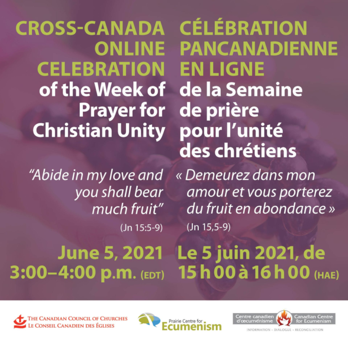 cross-canada online celebration of the week of prayer for christian unity